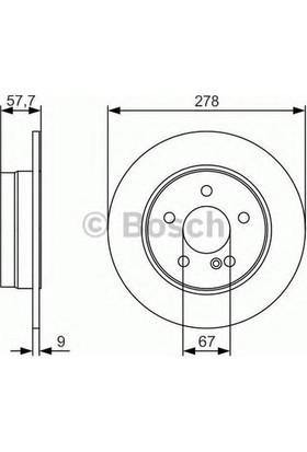 Bosch Fren Diski Arka [5D 278Mm] W204 S204 07