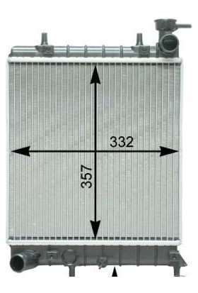 Kale Motor Radyatörü Accent Accent II 335X317X16 2531025050 253101B000