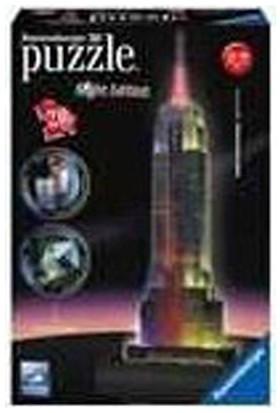 Ravensburger 3 Boyutlu 216 Parçalı Plastik PuzzleIşıklı Empire State-125661