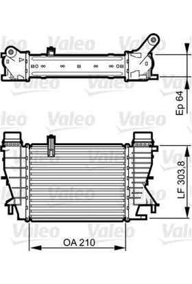 Valeo Turbo Radyatörü Renault Grand Modus