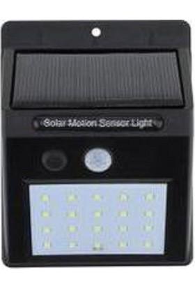 Fujika 1W Güneş Enerjili 20 Ledli Bahçe Aydınlatma Solar Dış Mekan Lambası Hareket Sensörlü