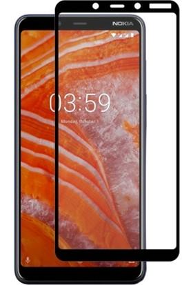 Ally Nokia 3.1 Plus 3D Full Kaplama Ekran Koruyucu Siyah
