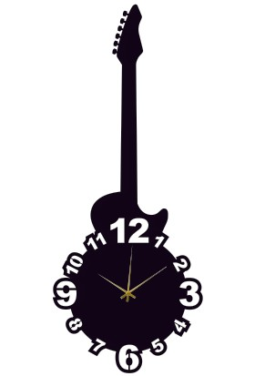 Hediyelikevi Dekoratif Gitar Şeklinde Saat