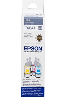 Epson T6641 Siyah Mürekkep L100-200-120-L1300-L110-L300-L45570Ml