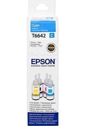 Epson T6642 Mavi Mürekkep L100-200-120-L1300-L110-L300-L455 70Ml