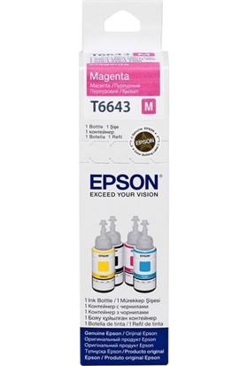 Epson T6643 Kırmızı Mürekkep L100-200-120-L1300-L110-L30070Ml