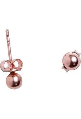 İzla Design Top Model Rose Kaplama Gümüş Küpe