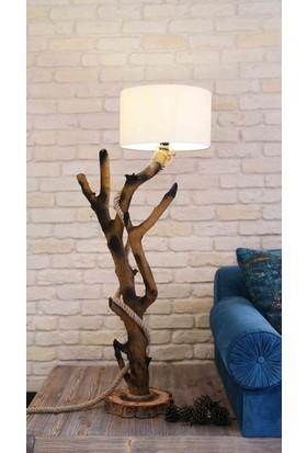 Wood Book Dekoratif Doğal Lambader