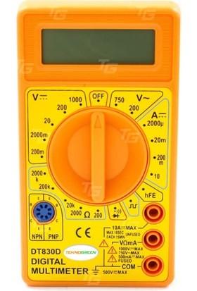 Teknogreen Dt-830D Dijital Multimetre