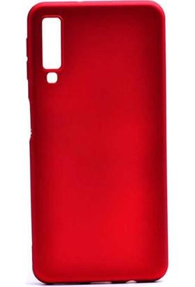 Microcase Samsung Galaxy A7 2018 Premium Matte Silikon Kılıf Kırmızı