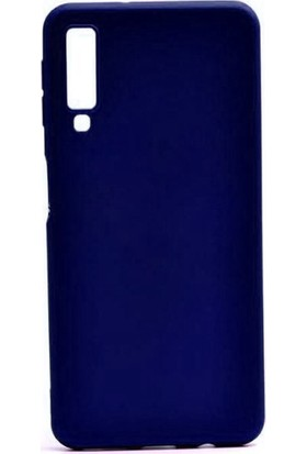 Microcase Samsung Galaxy A7 2018 Premium Matte Silikon Kılıf Lacivert