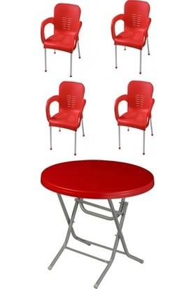 Comfort Manolya Masa +Çiğdem Sandalye 4 Adet