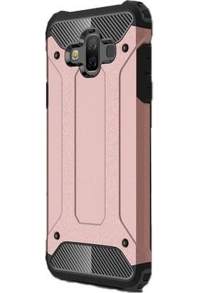 Jopus Samsung Galaxy J7 Duo Kılıf Ultra Lüx Çift Katmanlı Darbe Emici Crash Kılıf + Cam Ekran Koruyucu