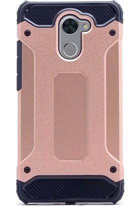 Jopus Huawei Y7 Prime Kılıf Ultra Lüx Çift Katmanlı Darbe Emici Crash Kılıf + Cam Ekran Koruyucu