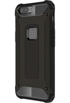 Jopus One Plus 5T Kılıf Ultra Lüx Çift Katmanlı Darbe Emici Crash Kılıf + Nano Ekran Koruyucu