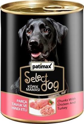 Patimax 24'lü Parça Tavuk ve Hindi Etli Köpek Konserve 400 Gr