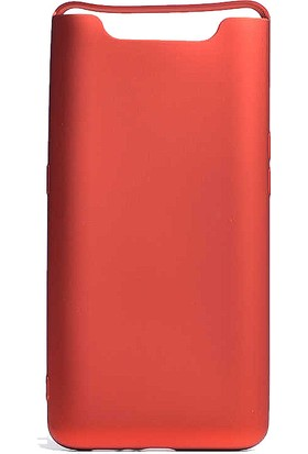 CoverZone Samsung Galaxy A80 Kılıf Premier Silikon Sakssi + Temperli Ekran Koruma + Dokunmatik Kalem - PRE150 Kırmızı