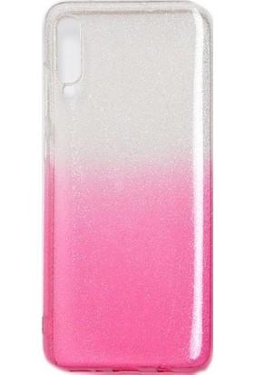 CoverZone Samsung Galaxy A10 Kılıf Simli Colored Ogy Kılıf Pembe