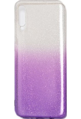 CoverZone Huawei Mate 20 Lite Kılıf Simli Colored Ogy Kılıf + Temperli Ekran Koruma - FOGY30 Mor