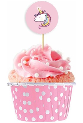 Pasta Cumhuriyeti Unicorn Muffin Cupcake Süsleme Seti 40lı