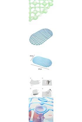 Homecare Yeşil Banyo Küvet Vakumlu Kaydırmaz Paspas 711545