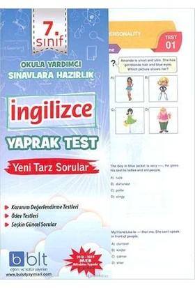 Bulut Eğitim 7. Sınıf İngilizce Yaprak Test