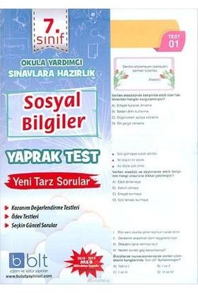 Bulut Eğitim 7. Sınıf Sosyal Bilgiler Yaprak Test