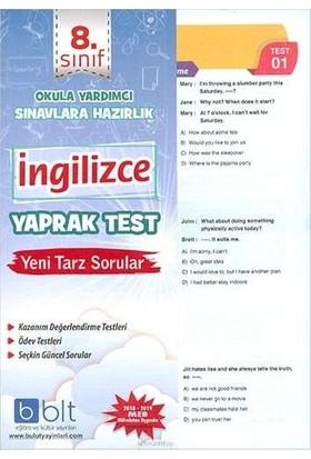 Bulut Eğitim 8. Sınıf İngilizce Yaprak Test