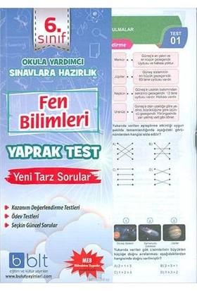 Bulut Eğitim 6. Sınıf Fen Bilimleri Çek Kopar Yaprak Test