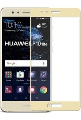 Sunix Huawei P10 Lite Sarı Tam Kaplayan Ekran Koruyucu Cam Gold