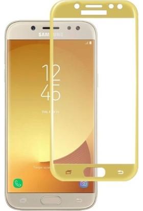 Sunix Samsung Galaxy J5 Pro Cueved Tam Kaplayan Ekran Koruyucu Cam Gold