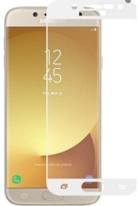 Sunix Samsung Galaxy J5 Pro Cueved Tam Kaplayan Ekran Koruyucu Cam Beyaz
