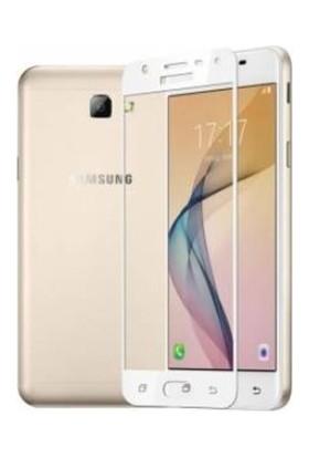 Sunix Samsung Galaxy J7 Prime / Prime 2 Tam Kaplayan Ekran Koruyucu Cam Beyaz