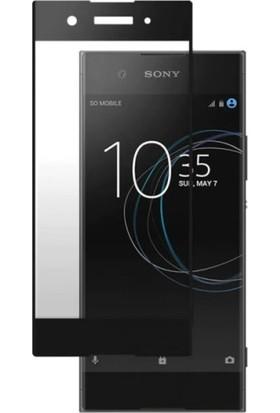 Sunix Sony XA1 Tam Kaplayan Ekran Koruyucu Cam Siyah