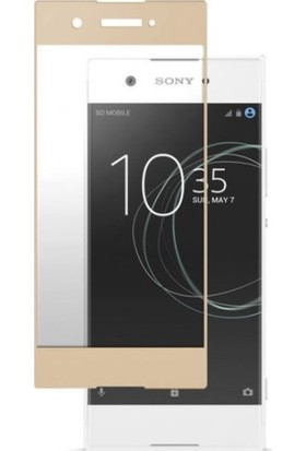 Sunix Sony XA1 Tam Kaplayan Ekran Koruyucu Cam Gold