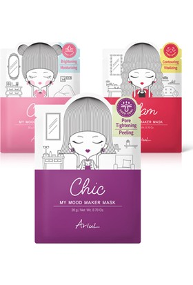 Ariul My Mood Maker Daily Mask Set (3 Çeşit)