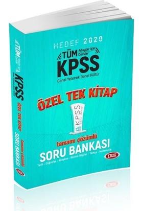 Data Yayınları 2020 KPSS Genel Yetenek Genel Kültür Tek Kitap Tamamı Çözümlü Soru Bankası