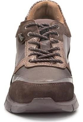 Forelli 24201 Kadın Kahve Deri Comfort Ayakkabı