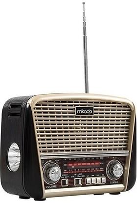 Mikado Tkz-8BT Serenad Usb-Tf Destekli Bluetooth Klasik Nostalji Fenerli Radyo