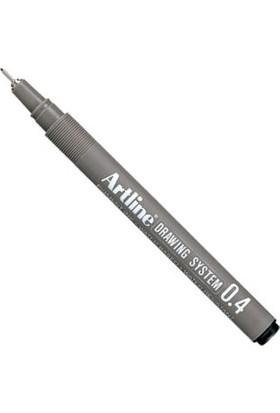 Artline Drawing System Teknik Çizim Kalemi 0.4 mm Siyah