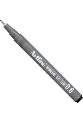 Artline Drawing System Teknik Çizim Kalemi 0.6 mm Siyah