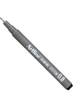Artline Drawing System Teknik Çizim Kalemi 0.8 mm Siyah