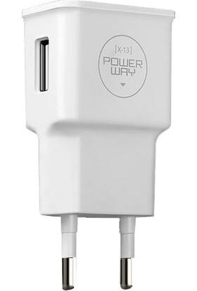 Powerway X13 Micro USB Kablo + Şarj Aleti