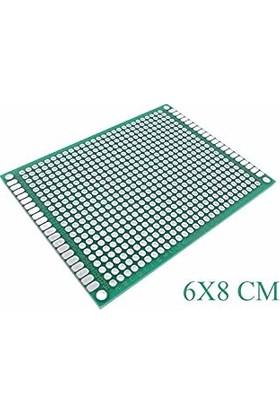 Çift Yüzlü Delikli Pertinaks 6X8 Cm