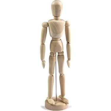 ahsap model manken 30cm