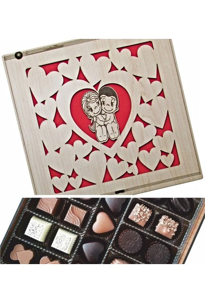Çikolata Marketi Kalpler İçinde Şıp Sevdi Sevgililer... Sevgiye Hediyelik Çikolata