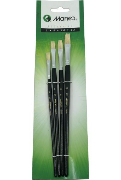 Maries 577 Serisi Yağlı Ve Akrilik Boya 6-8-10-12 Fırça Seti