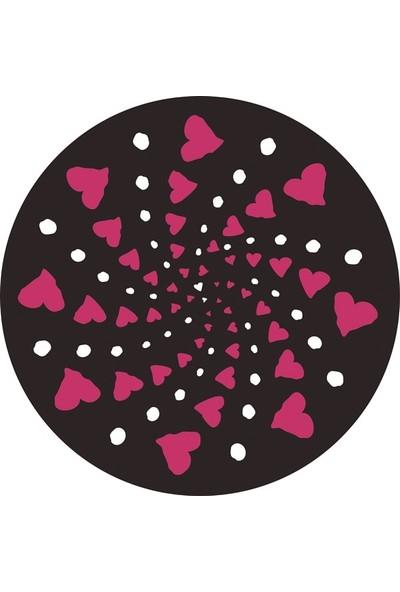 Nikidom Roller Çanta Için Tekerlek Stickeri / Etiketi Cuore Desen