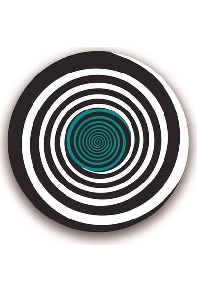 Nikidom Roller Çanta Için Tekerlek Stickeri / Etiketi Circles Desen