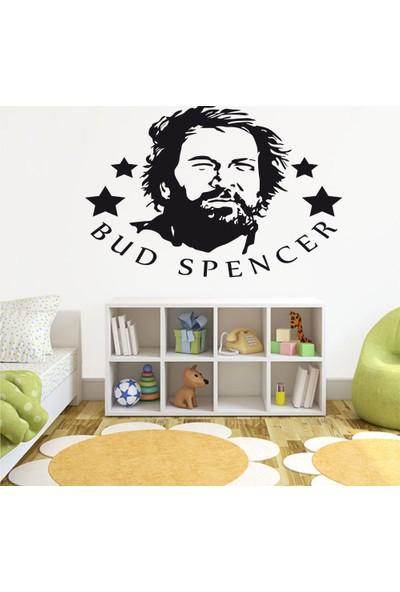 Tatfast Bud Spencer 2 Duvar Stıcker 40 x 60 cm Siyah